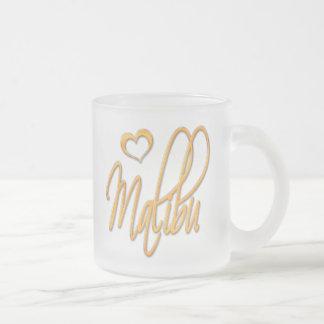 Malibu Frosted Glass Coffee Mug