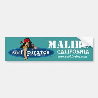 Malibu Surf Shop Bumper Sticker