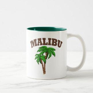 Malibu  With Palm Tree Two-Tone Coffee Mug