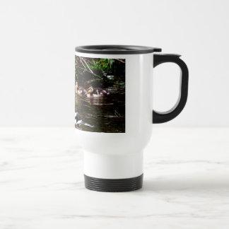 Mallard Family Decorative Travel Mug