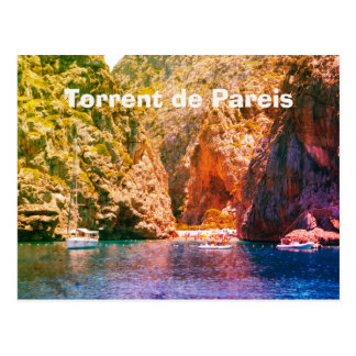 Mallorca, Vintage Torrent de Pareis Travel Postcard