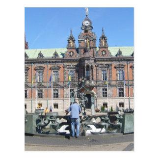 Malmö Sweden - City Hall Postcard