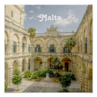 Malta Courtyard Poster