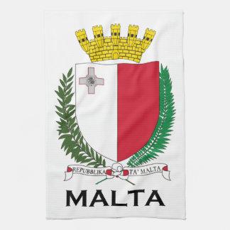 MALTA - emblem/coat of arms/symbol/flag Tea Towel