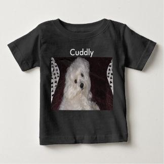 Maltese CUDDLY T-Shirt for Baby Girl or Boy