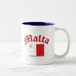 Maltese Flag Two-Tone Mug
