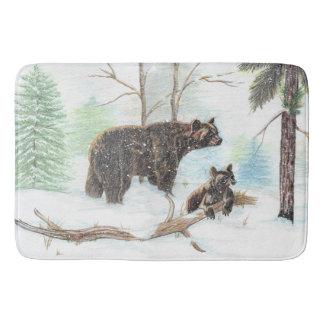 Mama and Baby Bear Bath Mat