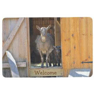 Mama Goat And Baby Floor Mat