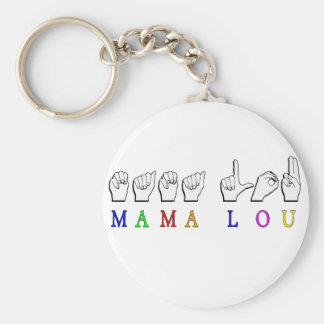 MAMA LOU FINGERSPELLED NAME SIGN KEY CHAIN