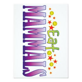 Mammals Eat 14 Cm X 19 Cm Invitation Card