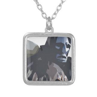 mamuthones square pendant necklace