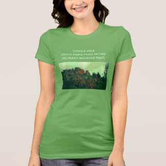 man and nature lakota proverb T-Shirt