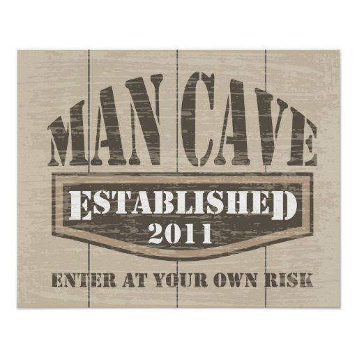 Man Cave Gifts Nz : Man cave poster established zazzle