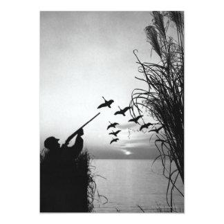 Man Duck Hunting 13 Cm X 18 Cm Invitation Card