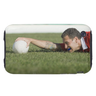 Man grabbing rugby ball iPhone 3 tough covers