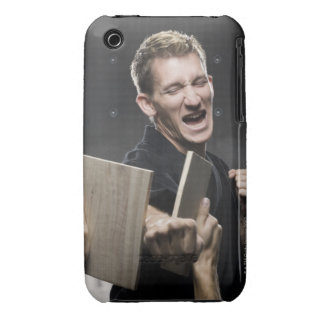 man in a black karate gi practicing martial arts iPhone 3 cover