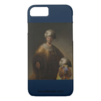 Man in Oriental Costume with Wimsey the Bloodhound iPhone 8/7 Case
