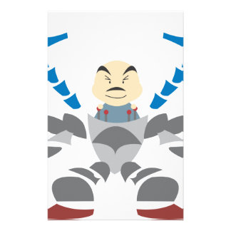 Man in Robot Stationery