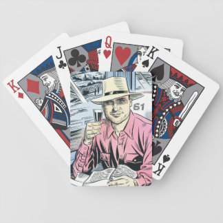 Man in Seat 61 playing cards