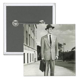 Man in Suit 15 Cm Square Badge