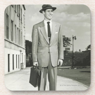 Man in Suit Drink Coaster