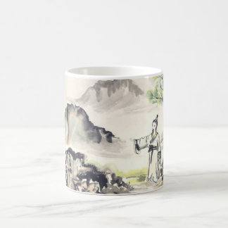 Man in the Wilderness Chinese Landscape Coffee Mug