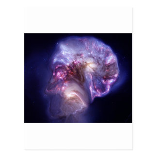 Man Made Heaven Nebula Space Art Postcard