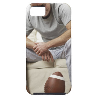 Man on Sofa with Football iPhone 5 Cover