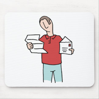 Man Reading Letter Mouse Pad