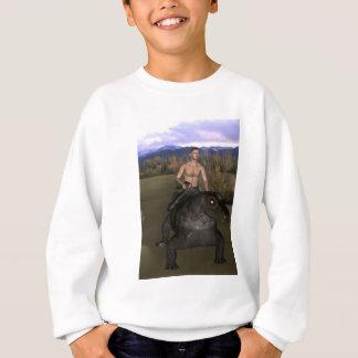 Man Riding Reptile 3 Sweatshirt Kids