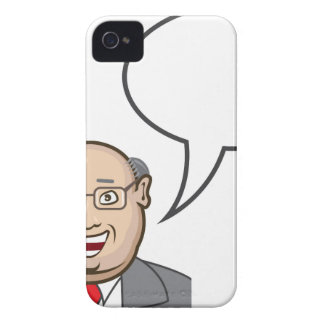 Man speaking Bubble for text iPhone 4 Case