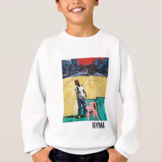 Man with Pink Dog Sweatshirt