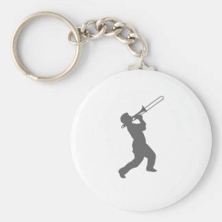 man with trombone key ring