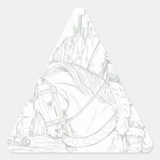 Manannan mac Lir Triangle Sticker