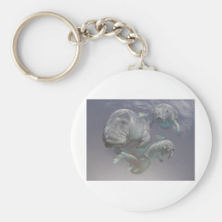Manatee Family Key Ring
