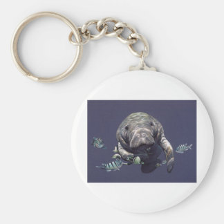 Manatee Underwater World Key Ring
