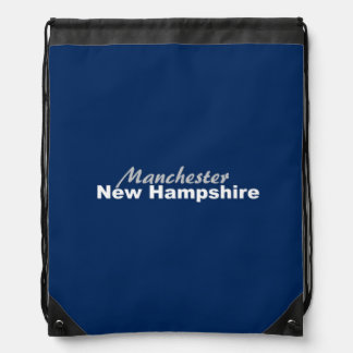 Manchester, New Hampshire Drawstring Backpack