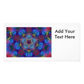 Mandala Art Abstract Design Custom Photo Card
