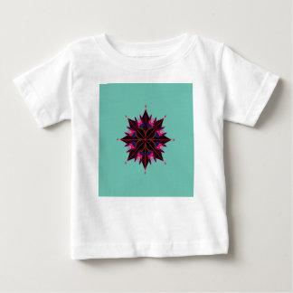 Mandala black on cyan Orient Baby T-Shirt