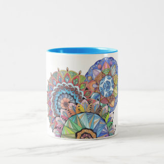 Mandala Clasic Two-Tone Coffee Mug