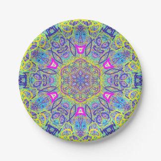 """Mandala """"Clowns"""" Paper plate by MAR"""