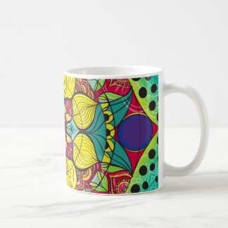 Mandala color coffe mug