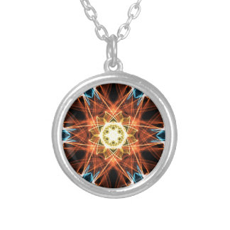 mandala colorida.png round pendant necklace