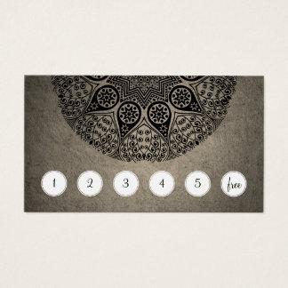 Mandala Customer Loyalty Punch Card