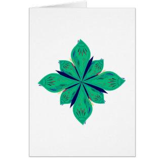 Mandala Ethno green deco Card