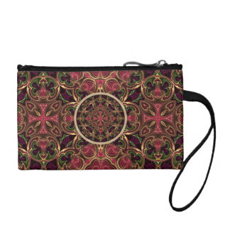 Mandala, Kaleidoscope Tapestry Cross Abstract Change Purse