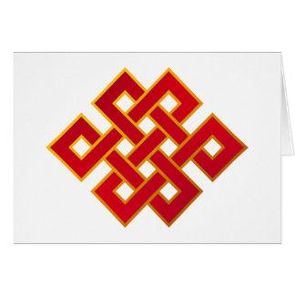Mandala Karma Buddhism Eternal Knot Card