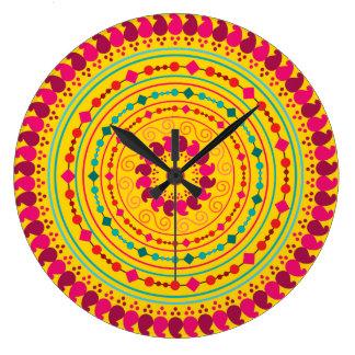 Mandala Large Clock