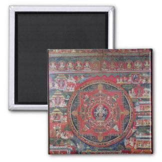 Mandala of Amoghapasa Square Magnet