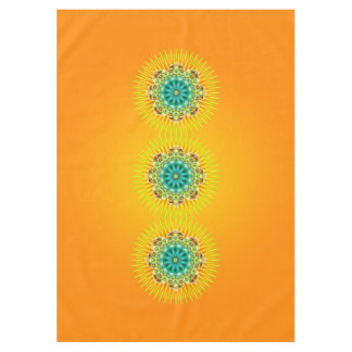 Mandala Rays Yellow Green + your ideas Tablecloth
